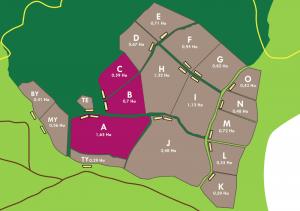 Carte des Enclos de A à O