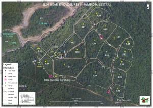 Plan des enclos à BOS Samboja Lestari